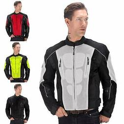 Motorcycle Mesh Jacket Vest for Men protects against cold wi