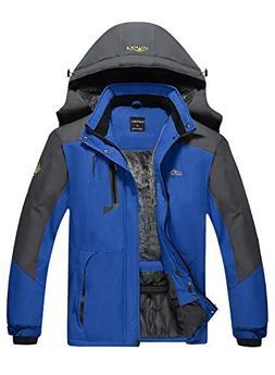 EQUICK Men's Mountain Waterproof Ski Jacket Windproof Rain J