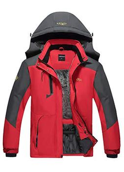 CIOR Men's Mountain Waterproof Ski Jacket Windproof Rain Jac