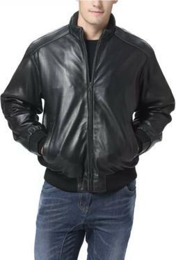 NEW BGSD Men's Lambskin Leather Bomber Jacket - Big SIZE XXL