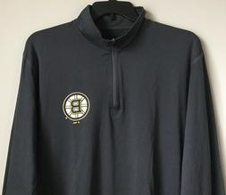 New Boston Bruins Men's Quarter Zip Jacket Dark Gray Color S