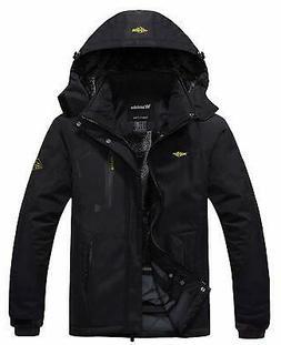 Wantdo NEW Deep Black Mens Size XL Waterproof Rain Hooded Ja