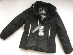 New ZeroXposur Down Ski Black Parka Jacket Coat Womens Sz L