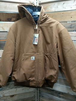 NEW Carhartt J140 Duck Quilted-flannel Lined Active Jacket 1