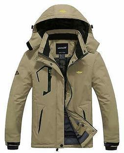 Wantdo NEW Khaki Mens Size Large L Hooded Windproof Rain Jac