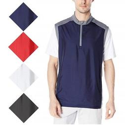 NEW Men's Adidas 2018 Quarter Zip Stretch Wind Golf Vest - C