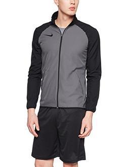 New Nike Men's Dry Team Training Jacket Dk Grey/Black/Black