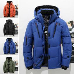 Men's Winter Warm Duck Down Jacket Ski Jacket Snow Hooded Co