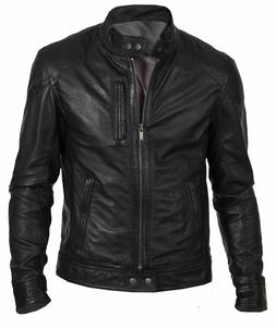 new mens bomber vintage black genuine leather