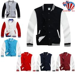 New Mens Boy Varsity Jacket Letterman Baseball American Coll