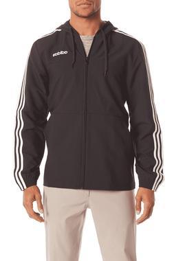 NEW Men's Adidas Essentials Wind Jacket 3 Stripes Black/Wh