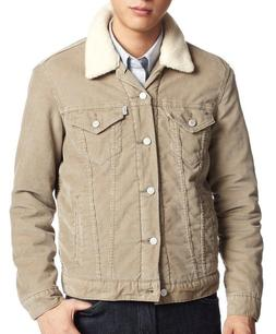 NEW MENS LEVIS SHERPA TRUCKER JACKET CREAM BEIGE 705980018