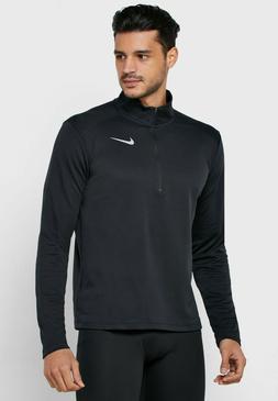 Nike NEW Mens Large Black Half Zip Running Pacer Top Long Sl