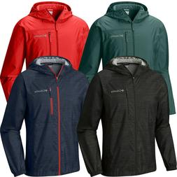 "New Mens Columbia ""Morning View"" Packable Hooded Windbreaker"
