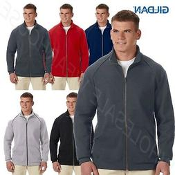NEW Gildan Mens Premium Cotton Ringspun Fleece Full Zip Jack