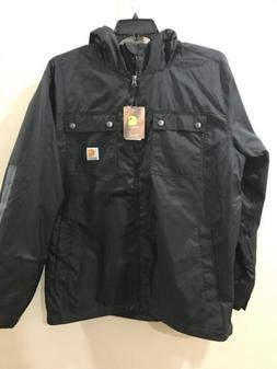 NEW Men's Carhartt Rockford Jacket 100247 Black Size Mediu