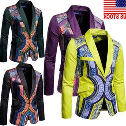 NEW Mens Suit Blazer Floral Formal Coat Jacket Weeding Party
