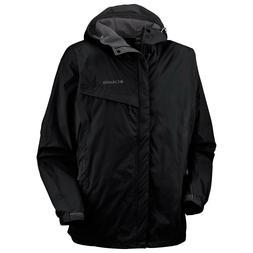 Columbia Waterproof Mens Packable Rain Wind Jacket M L Black Carbon Orange NWOT