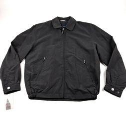NEW London Fog Mens Zip-Front Golf Jacket Coat Black Size Sm