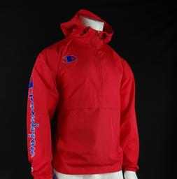 NEW CHAMPION PACKABLE HALF-ZIP MENS LIGHTWEIGHT WINDBREAKER