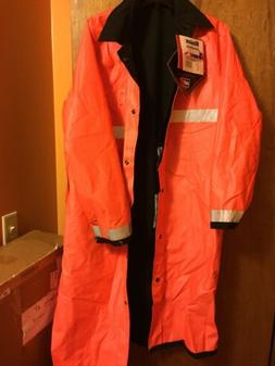 NEW BLAUER Reversible Raincoat Jacket Reflective Orange Medi