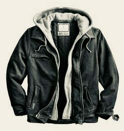 NEW Rugged Dakota Jacket w Hood Zipper Black/Tarmac/Grey XL