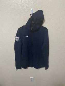 New Nike USA Team Mens Basketball Therma Zip Hoodie Size med
