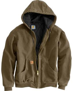 NEW WITH TAGS! CARHARTT MENS SANDSTONE WINTER COAT FLANNEL L