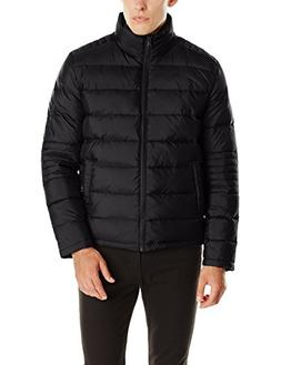 Kenneth Cole New York Men's Puffer Down Jacket with Elbow St