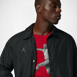 Nike Men's Air Jordan Wings Coaches Jacket BLACK 882893 010