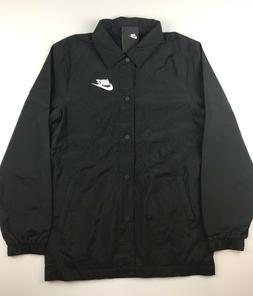 Nike NSW Sportswear Mens Medium Black White Tech Varsity Wov