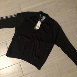 NWT $110 ADIDAS Women's ID Size Large L Knit Bomber Black/Wh