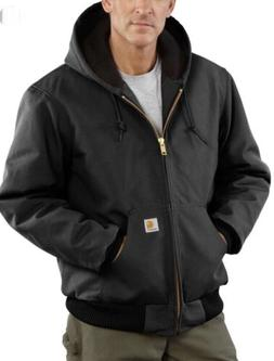 NWT Carhartt Active Duck Jacket - Quilted Lining Hooded Blac