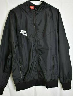 NWT Black Nike Windbreaker Jacket Zipper Running Nylon Men S
