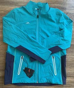 NWT Kjus Domus Full Zip Stretch Jacket Blue Mens Size Large