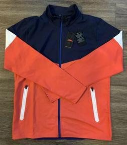 NWT KJUS Mat Full-Zip Golf Jacket Blue Orange Mens Size Medi