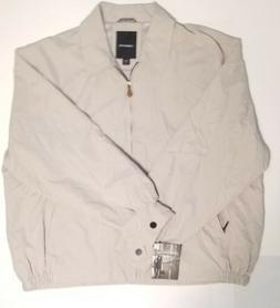NWT London Fog Men's 2XL Beige/Khaki Full Zip Jacket New Pol