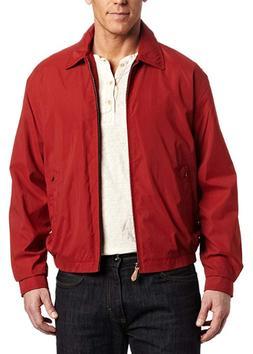 NWT, London Fog Mens Auburn Zip-Front Golf Jacket in Chili S