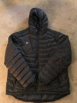 NWT Champion Mens Hooded Puffer Jacket- Black Size Large