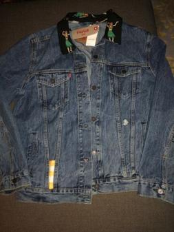NWT Men's Levi's® Trucker Denim Jacket Hula Girl Collar B