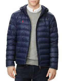 NWT Polo Ralph Lauren Mens Pony Packable Hood Puffer Down Ja
