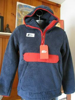 NWT Mens The North Face Pullover Campshire Sherpa Fleece Hoo