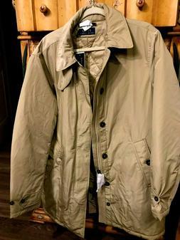 NWT Polo Ralph Lauren Rain Coat w Quilted lining  Tan  Mens