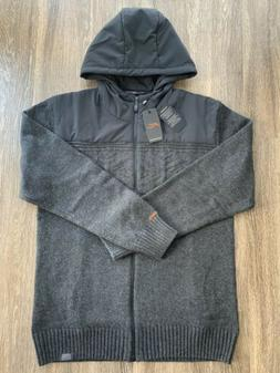 NWT Kjus Vail Wool Cable Knit Sweater Jacket Gray Mens Size
