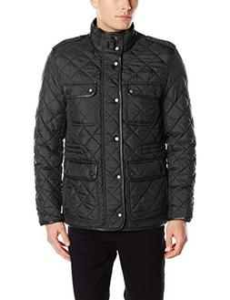 Cole Haan Signature Men's Nylon Quilted Jacket with Corduroy