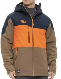 O'Neill Exile Ski Snow Mens Jacket Insulated Orange Brown Si