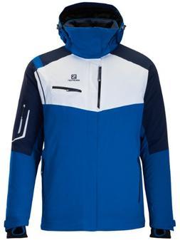 Salomon Men's Odysee GTX Jacket M,Union Blue/Big Blue-X/Whit