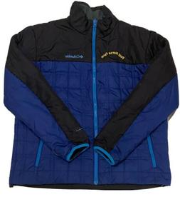 Columbia Omni-Heat Men's Blue & Black Full Zip Puffer Jack