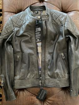 Belstaff Outlaw Black Leather Jacket, Size US 34, IT 44, New