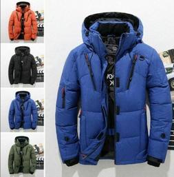 Oversize Warm Hooded Jacket Men's Ski Duck Down Snow Winter